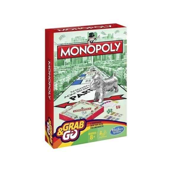 Jogo Monopoly Grab e Go - Hasbro