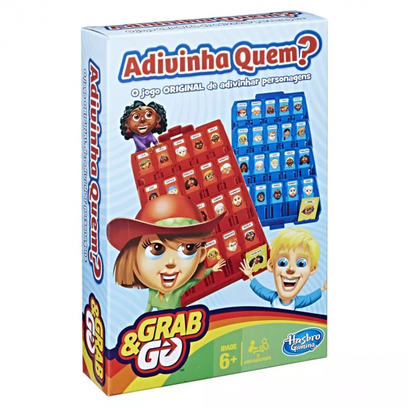 Jogo Adivinha Quem Grab & Go - B1204 - Hasbro