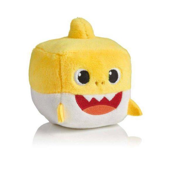 Baby Shark Pelúcia musical Cubo Amarelo Toyng 39258 Amarelo