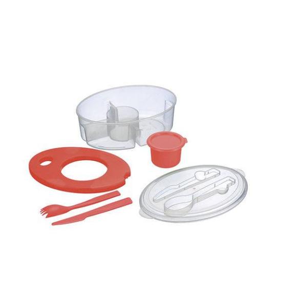 Pote Térmico Para Salada Com Porta Tempero Colors Zf-4783
