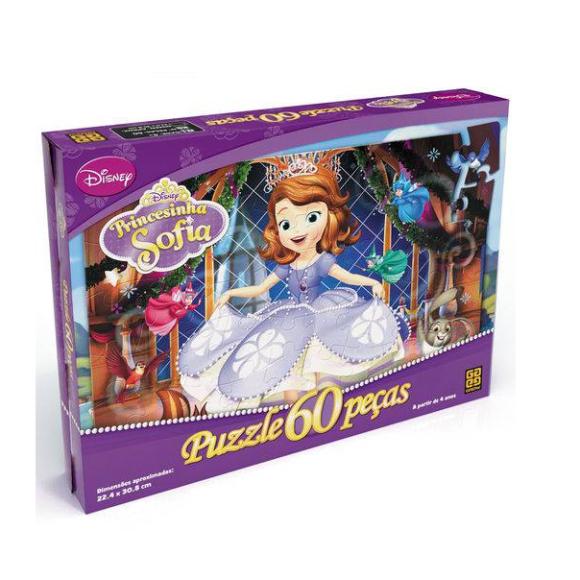 Puzzle 60 Peças Princesinha Sofia