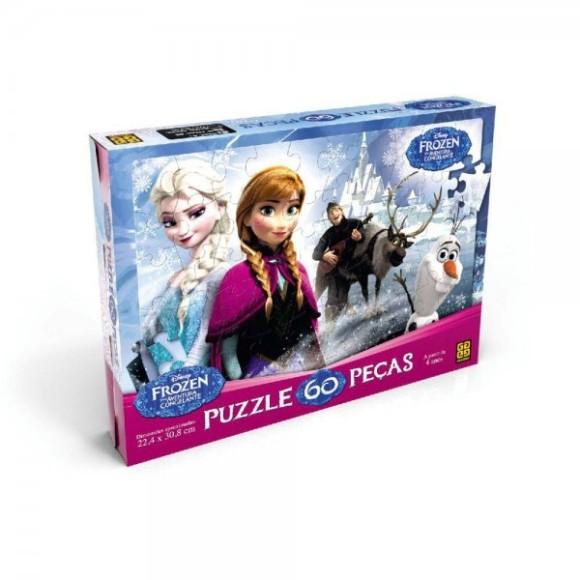 Quebra-Cabeça 60 peças Frozen - Grow