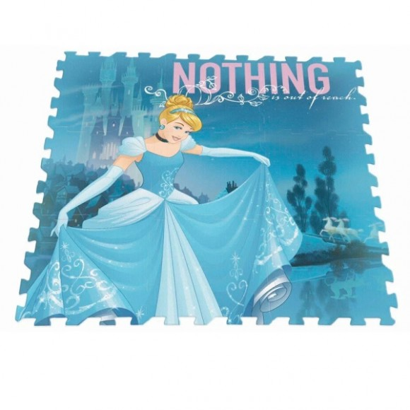 Tapete Tatame Infantil Bebe Menina Em E.V.A Disney Cinderela Dtc