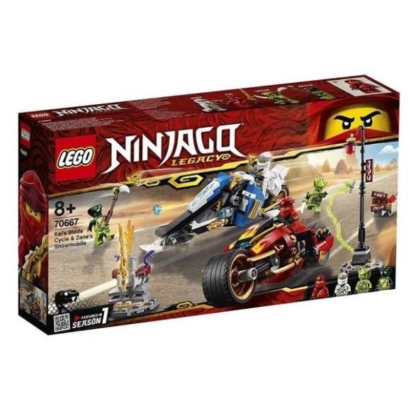 70667 - Lego Ninjago Legacy A Motocicleta De Espadas De Kai E O Jet Ski De Neve De Zane