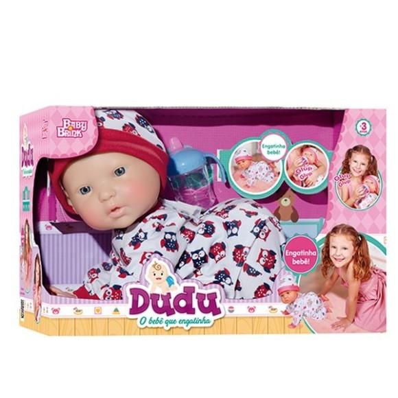 Boneca Bebê - Dudu Engatinha - Baby Brink