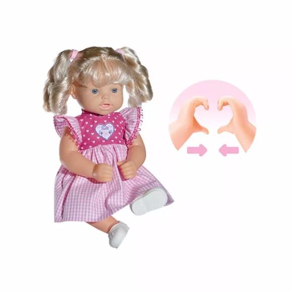 Boneca Baby Love Coração Com As Mãos Fala Frases - Babybrink