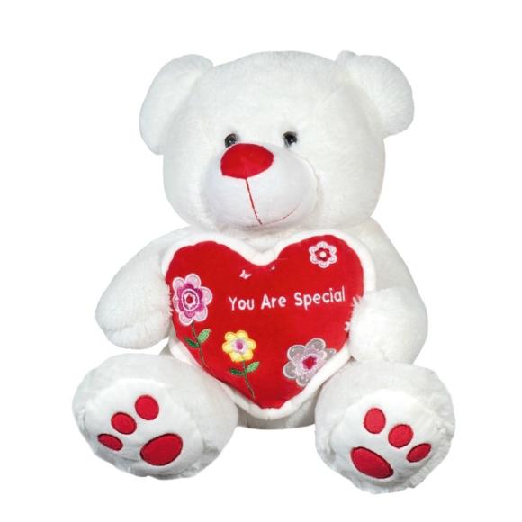 Urso De Pelúcia Apaixonado 31 Cm Baby Brink 2158