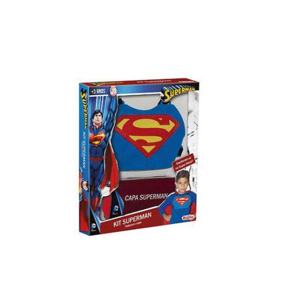 Kit Infantil Superman Liga Da Justiça Capa E Peitoral -Rosita