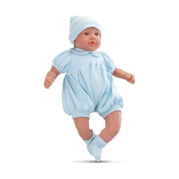 Boneca - Bebê Real Reborn - Roupa Azul - Roma Jensen