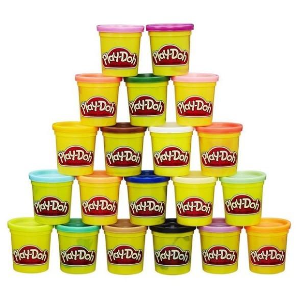 Conjunto Play-Doh Hasbro com 20 Potes Sortidos