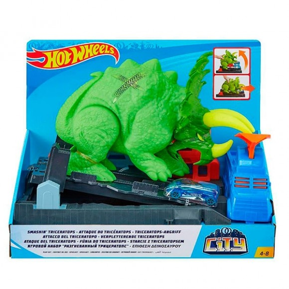 Pista Hot Wheels Ataque de Triceratops - Mattel