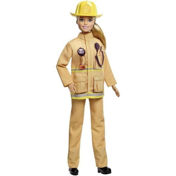 Barbie Profissões Aniversário 60 Anos Bombeira Gfx29 - Mattel