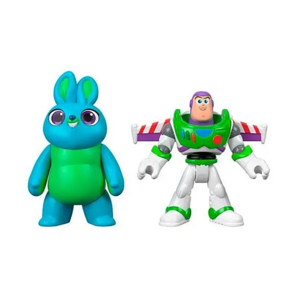Mini Figuras Básicas - 10 Cm - Disney - Pixar - Toy Story 4 - Bunny e Buzz - Mattel