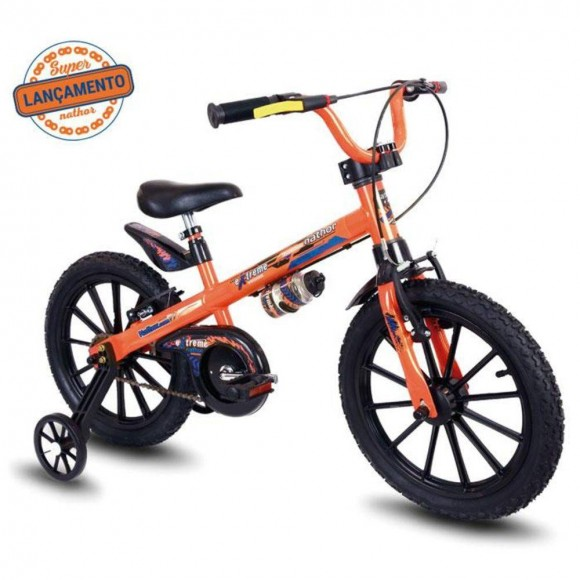 Bicicleta Nathor Xtreme Laranja/preta Aro 16 Masculina