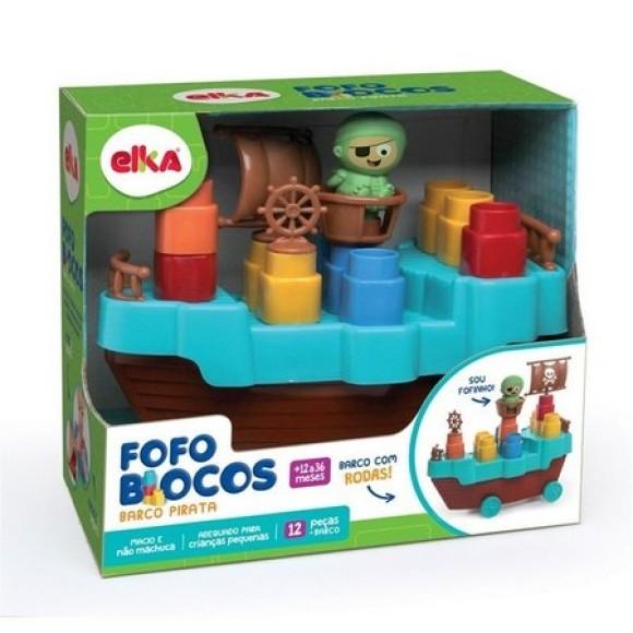 Barco Pirata Com Fofo Blocos - 1a Infancia - Elka