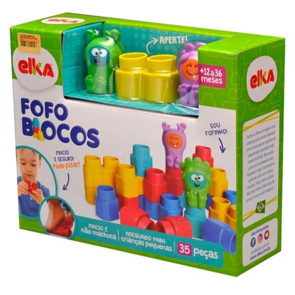 Blocos de Montar - Fofo Blocos - 35 Peças - Elka