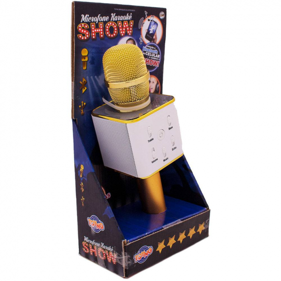 Microfone Infantil Bluetooth - Show - Amarelo - Toyng