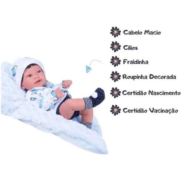 Boneco Anny Doll 42cm Com Casaquinho Menino 2440