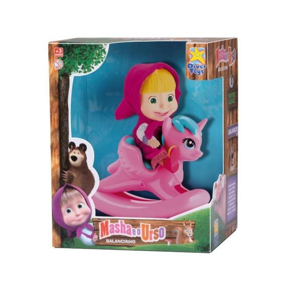 Boneca Masha E O Urso Masha Montada no Unicornio - Divertoys