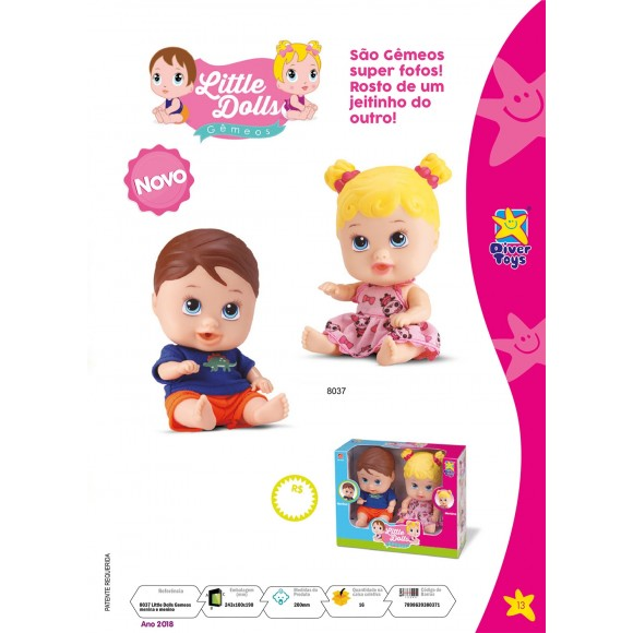 Bebê Little Dolls Gêmeos - Divertoys