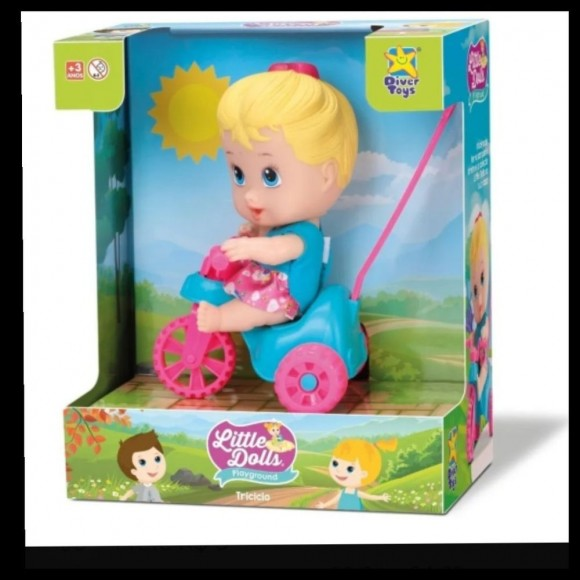 8110  LITTLE DOLLS PLAYGROUND TRICICLO MENINA