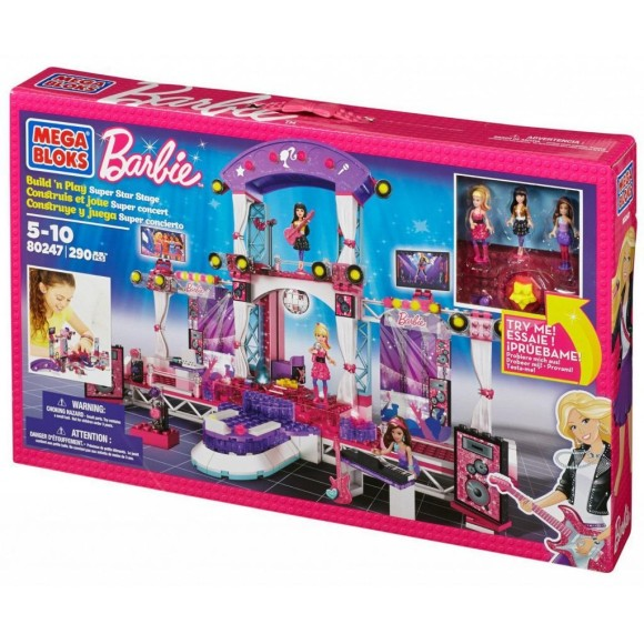 80247BARBIE MEGA BLOCKS 290 PECAS