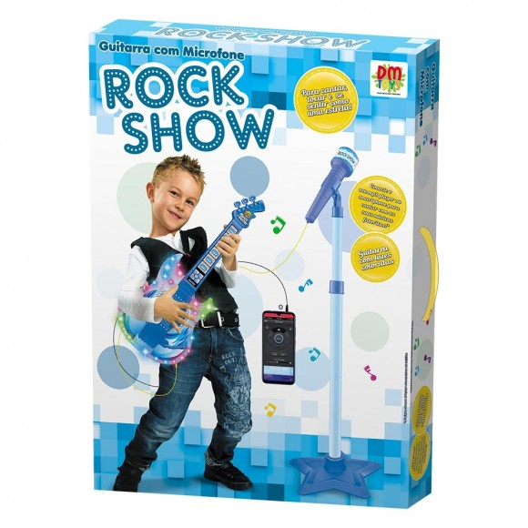 DMT 5894 GUITARRA COM MICROFONE ROCK STAR
