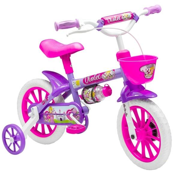 Bicicleta Infantil aro 12 violet