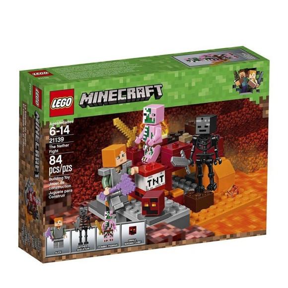 LEGO BLOCOS DE MONTAR - O COMBATE DO NETHER - 21139