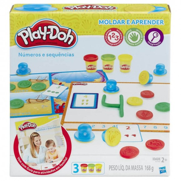 Conjunto Play-doh Aprendendo Os Números Hasbro