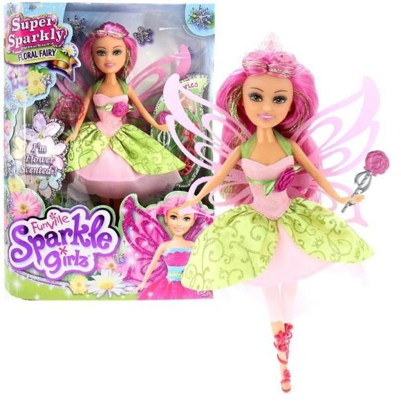 Boneca Sparkle Girlz Fada Das Flores - Bianca
