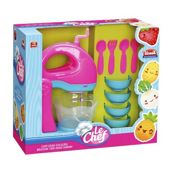 Kit Batedeira Le Chef Usual Brinquedos