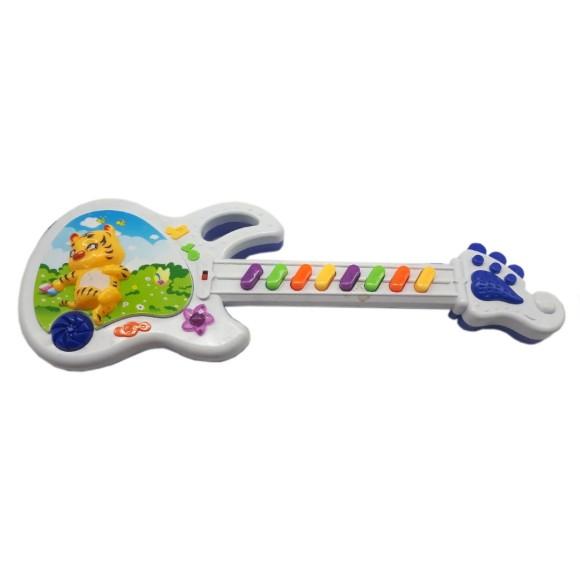 Guitarra Infantil Musical Bebe Brinquedo Musical Tigre