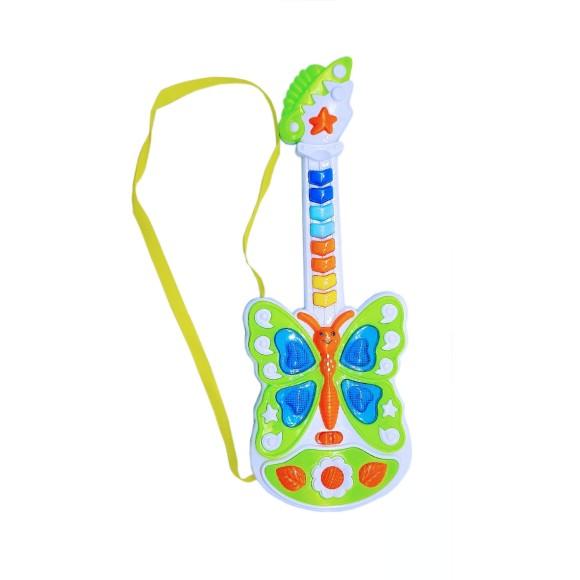 Guitarra Musical Bytterflty - PI3025 - Verde e Laranja