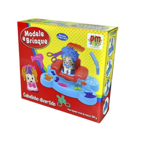 Massinha De Modelar Modele E Brinque Cabelinho Divertido