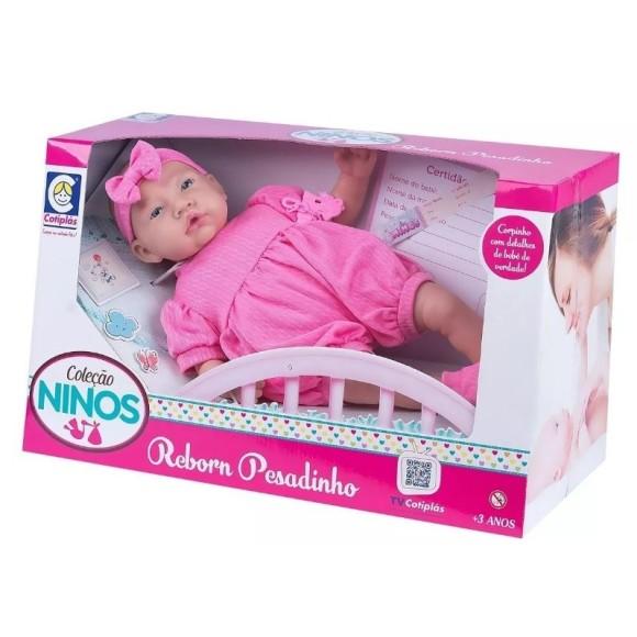 Boneca Ninos Reborn Pesadinho Menina Cotiplas