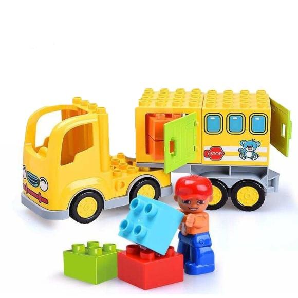 Blocos Tipo LEGO Montar caminhão 23 Peças Gorock - 1037