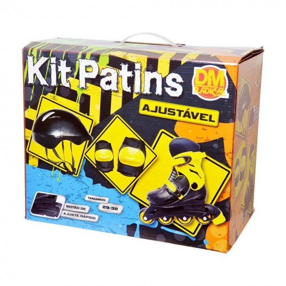 Kit Patins Ajustavel C/Acess Tam M (29-32)