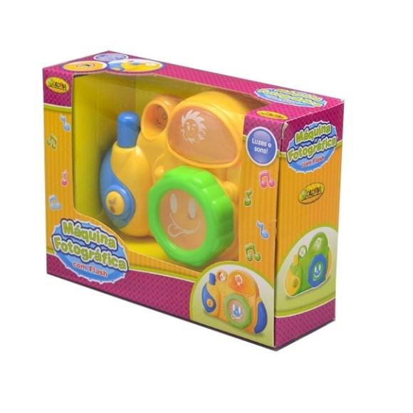 Brinquedo Maquina fotográfica com flash - Brinquedo - Coloria - Luzes e sons