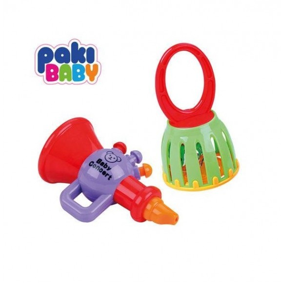 Chocalho Corneta e Sino - Poki Toys