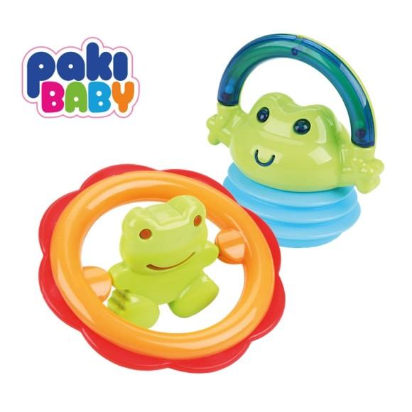 Chocalhos divertidos - Paki Baby - Sapo e chocalho