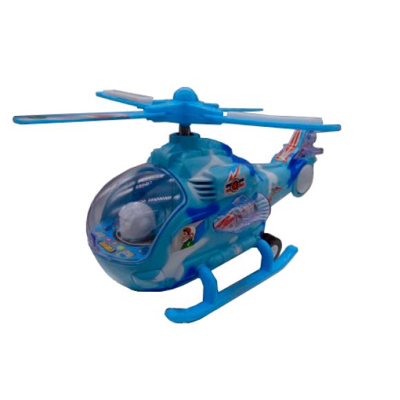 GK030 HELICOPTERO COM LUZ E SOM A PILHA