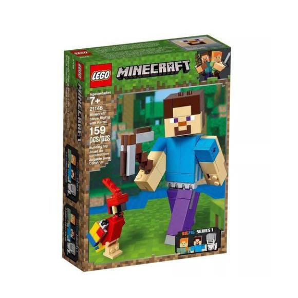 21148 - Lego Minecraft - Bigfig Steve Com Papagaio - 159 peças
