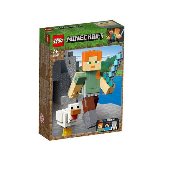 Lego Minecraft 21149 - Alex Gigante E Galinha