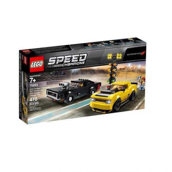 Lego Speed Champions 2018 Dodge Challenger E 1970 Dodge Charger R/t 75893