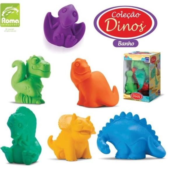 Brinquedo Para Bebe Colecao Dinos Banho 8,5cm. Cx.C/06 Roma